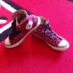 Converse All Star originali, high top, marimea 37-23 cm. - Tenisi dama Converse, Culoare: Visiniu, Textil