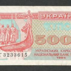 UCRAINA 5000 5.000 KUPON CUPON KARBOVANTSIV 1995 [1] P-93b, VF+ - bancnota europa
