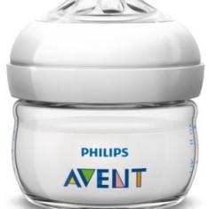 Biberon din polipropilena cu tetina din silicon PHILIPS AVENT Natural 60 ml SCF699/17