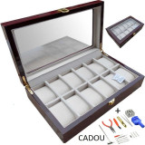 Cutie depozitare ceasuri Cutie organizare ceasuri Cutie expunere ceasuri + CADOU