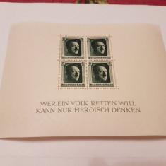 Germania reich 1937 hitler/ bloc 7 MH/MLH, Nestampilat