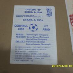 Program        Corvinul  -  UTA
