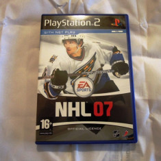 NHL 07, PS2, original! Alte sute de jocuri! - Jocuri PS2 Ea Sports, Sporturi, 3+, Multiplayer