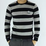 Pulover barbati - tip zara - gri - guler baza gatului - slim fit - elegant