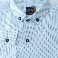 Camasa eleganta barbati - tip zara - alba cu picatele - slim fit - casual