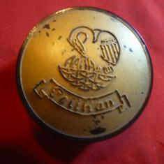 Cutiuta ebonita pt.penite de stilou Pelikan , d= 6 cm