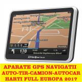 "GPS  Navigatii ecran HD 5"" GPS AUTO GPS TIR GPS CAMION HARTI FULL EUROPA 2017, Toata Europa, Lifetime"