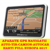 "GPS Navigatii ecran HD 5"" GPS AUTO GPS TIR GPS CAMION HARTI FULL EUROPA 2017, 5 inch, Toata Europa, Lifetime, Car Sat Nav, peste 32 canale"