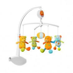 Carusel muzical Ursuleti de plus BabyOno 1369 - Instrumente muzicale copii