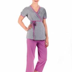 Pijama pentru gravide REGINA 654 - Pijamale gravide