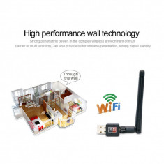 Adaptor placa retea Lan Adapter WIFI USB 150M cu antena wireless detasabila - Adaptor wireless