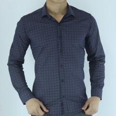Camasa eleganta barbati - gri cu buline - slim fit - casual - fashion