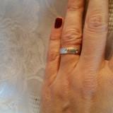 Inel argint 925 tip verigheta