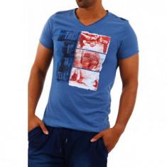 Tricou barbati Sublevel Albastru H1646S20187A Texas, Marime: S, Culoare: Din imagine