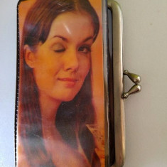 Portmoneu vechi vintage sovietic URSS pin-up, dubla imagine, fata, anii 70 - Geanta vintage