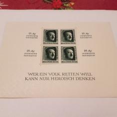 Germania reich 1937 hitler/ bloc 11 MH/MLH, Nestampilat
