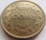 Moned 100 Lei - ROMANIA / REGAT, anul 1943 *cod 3795