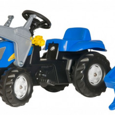 Tractor cu pedale si remorca Rolly Toys ROLLYKID-NEW HOLLAND Agriculture
