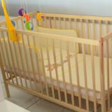 Set pentru bebelusi patut+saltea+lenjerie si carusel - Saltea Copii