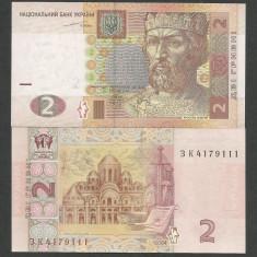 UCRAINA 2 HRIVNE 2004 UNC [1] P-117a, Semnatura SERGEI TIHIPKO - bancnota europa
