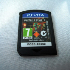 Joc Minecraft, PS Vita, original, alte sute de jocuri! - Jocuri PS Vita, Actiune, 3+, Single player