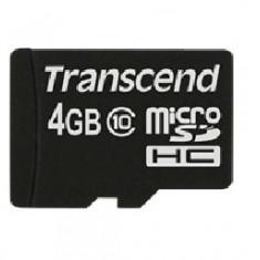 Card microSDHC Transcend 4GB Class 10
