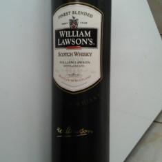 Cutie ambalaj + sticla whisky William Lawson's - Cutie Reclama