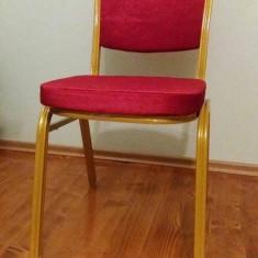 Scaun metalic tapitat - pentru sala si cort de nunti si evenimente, conferinte - Mobila pentru restaurant
