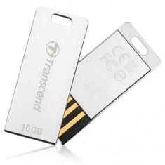 Stick USB 2.0 Transcend Jetflash T3S 16GB Argintiu