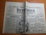 Ziarul dreptatea 15 ianuarie 1991-ziua de nastere a lui  mihai eminescu