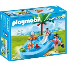 Piscina pentru copii cu tobogan Playmobil - Set de constructie