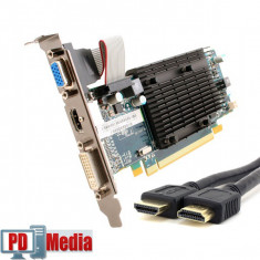 Placa Video ATI Radeon HD5450 512Mb DDR3 64Bit PCIe + Cablu HDMI - Placa video PC, PCI Express, 1 GB