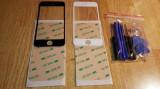 Geam / sticla / ecran touch iPhone 5 / 5s + Folie adeziva