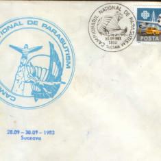 Plic ocazional 1983 - Campionatul National de Parasutism, Suceava