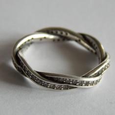 Inel Pandora impletit din argint cu zirconiu cubic -190892CZ -1141 - Inel argint