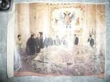 Fotografie  color Delegatia Romana in Albania cu O.Gherman ,Vadim Tudor, s.a.