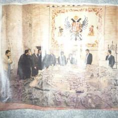 Fotografie color Delegatia Romana in Albania cu O.Gherman, Vadim Tudor, s.a. - Afis