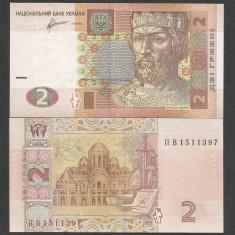 UCRAINA 2 HRIVNE 2011 UNC [1] P-117c, Semn SERHII ARBUZOV necirculata - bancnota europa