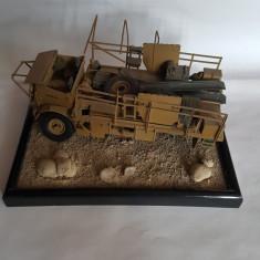 + Camion WW2 inmatriculare britanica de Africa facut relicva + - Macheta auto Italeri