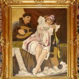 Tablou superv semnat GEIGER R - Pictor roman, Portrete, Ulei, Impresionism