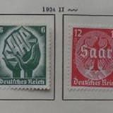 GERMANIA (REICH) 1934 – SAAR, serie nestampilata FARA GUMA, A20