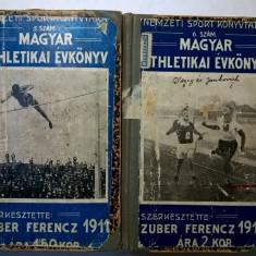 Zuber Ferencz - Magyar athletikai evkoniv {2 volume, 1911-12} - Carte veche