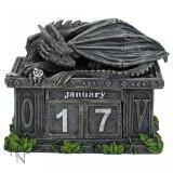 Calendar perpetuu de birou cu dragon - Pazitorul comorii - Tablou canvas