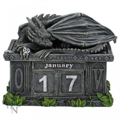 Calendar perpetuu de birou cu dragon - Pazitorul comorii foto