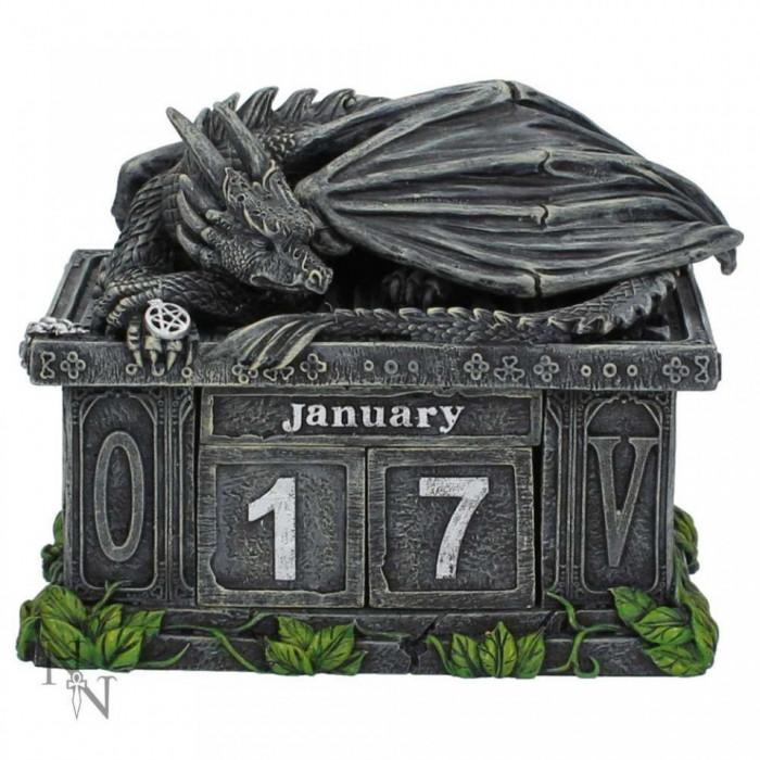 Calendar perpetuu de birou cu dragon - Pazitorul comorii foto mare