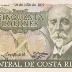 COSTA RICA 50 colones 29 iulie 1992 AUNC!!!