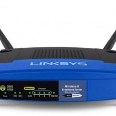 Linksys WRT54GL Linux instalat - Router wireless Linksys, Porturi LAN: 4