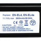 Power3000 PL165B.084 - acumulator tip EN-EL4 pentru Nikon D2X, D2H, 2600mAh - Baterie Aparat foto