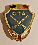 INSIGNA CTA IN PTAP ARTILERIE VARIANTA MEDIE EMAIL ALBASTRU INCHIS 25,05/21,60MM