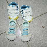 Set doua perechi adidasi, nou nascuti, adidasi bebe, marimea 17-19, 0-6 luni - Adidasi copii, Culoare: Din imagine, Baieti, Textil